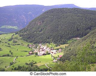 Landscape of Val Gardena