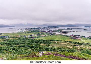Landscape of village in Norway, Scandinavia