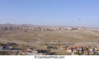 Landscape of village of Goreme on a summer day.