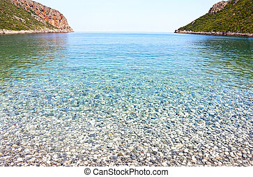 Vlychada beach Lakonia Peloponnese Greece - landscape of ...