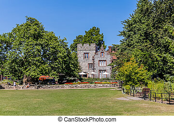 Landscape of Westgate gardens in Canterbury, England, UK