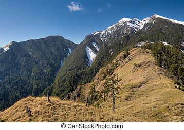 Landscape of winter snow mountain