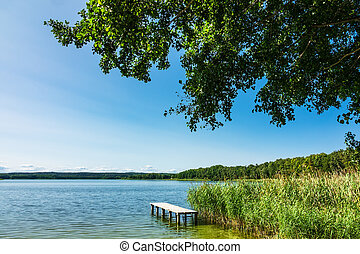 Landscape on a lake in Potzlow, Germany