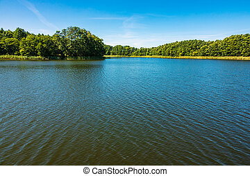 Landscape on a lake in Templin, Germany