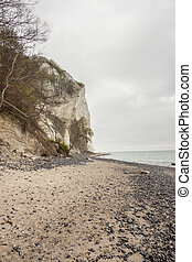 Landscape on Mon, Denmark - white cliffs.