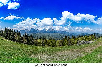 Landscape on the hills