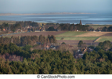 Landscape on the North Frisian Island Amrum in Germany
