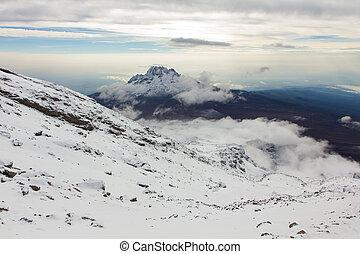 Landscape on top of Kilimanjaro mountain, Tanzania