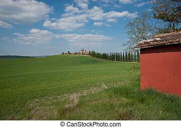 Landscape on Tuscany, Italy.