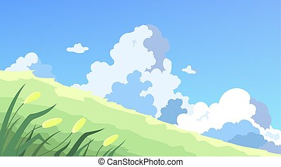 Landscape, outdoor view on the nature. Day scene