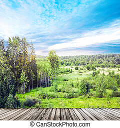 Landscape panorama outdoor