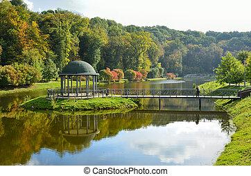 Landscape park in autumn