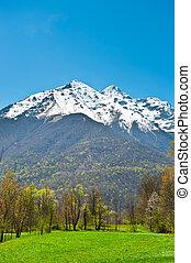 Landscape Park in the Foothills of Italian Alps, Piedmont