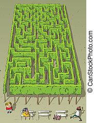 Landscape Park Trees Maze Game