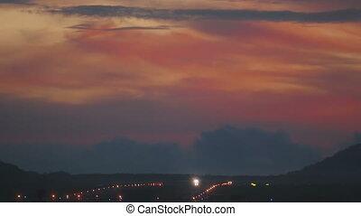 Landscape Phuket airport at dawn