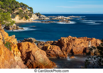 Landscape picture from a Spanish Costa Brava in a sunny day, near the town Palamos