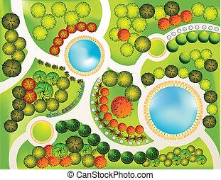 Landscape Plan - Plan of garden