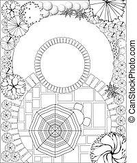 Landscape Plan - Plan of Landscape and Garden
