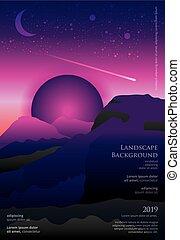 Landscape Poster Background Graphic Design Vector Illustration