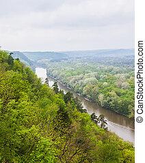 landscape river in spring