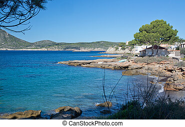 Landscape scenery. Sant Elm, San Telmo, Mallorca, Balearic ...