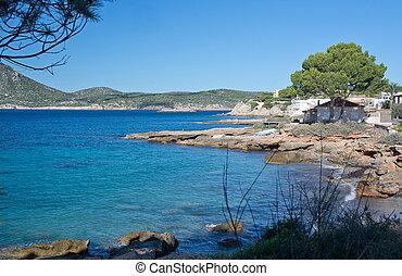 Landscape scenery. Sant Elm, San Telmo, Mallorca, Balearic...