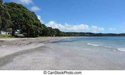 Landscape Snells beach New Zealand - Panoramic landscape of...