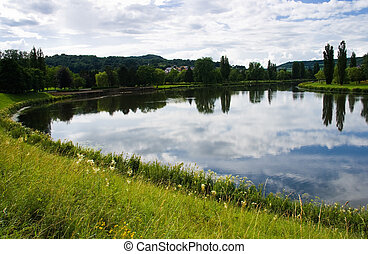 Landscape summer at the riverside