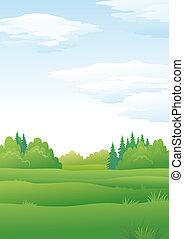 Landscape, summer forest