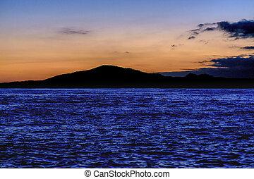 Landscape Sunset Scene, Galapagos, Ecuador