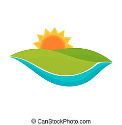 Landscape symbol illustration