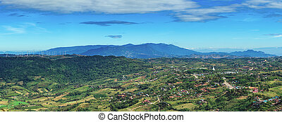 Khao kho - landscape the mountain with countryside and wind...