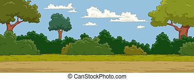 Landscape - The natural landscape cartoon background vector...