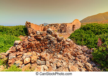 Landscape the shore at Buggerru especially Planu Sartu and...