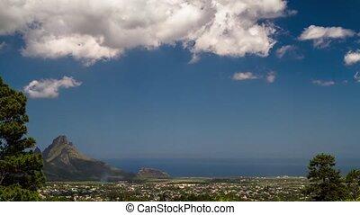 Landscape Tilt Timelapse, Mauritius - Timelapse with a tilt...