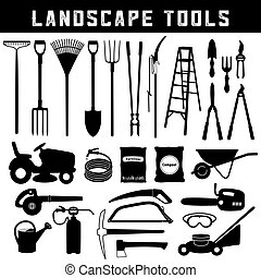 Landscape tools, Do it Yourself for lawn, garden, grass, ...
