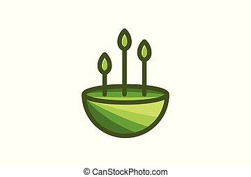 Landscape, tree minimalist logo design inspiration