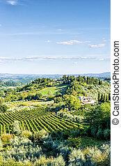 Landscape Tuscany near San Gimignano