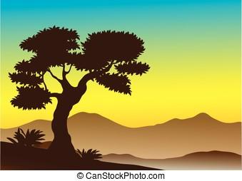 landscape, vector