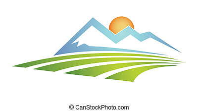 landscape - vector file available in any size Easy to resize...