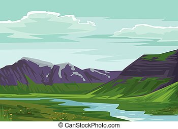 landscape. Vector flat illustration