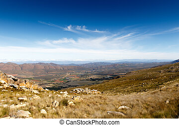 Landscape view - Clouds over the Swartberg valley in South Africa