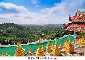 Mandalay Hill is a major pilgrimage site in Myanmar - ...