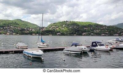 Boats on Lake Como, Italy