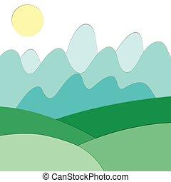Landscape view of green fields