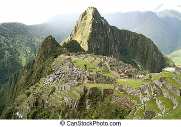 Landscape view of Machu Picchu - Landscape view of the ...