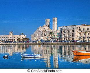 Landscape view of Molfetta touristic port. Apulia. - This is...