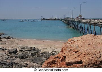 Port of Broome Jetty Pier in Broome Kimberley Western Australia