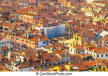 Landscape view of Rome on a sunny day