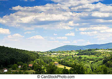 Serbian countryside - Landscape view of rural Serbian ...